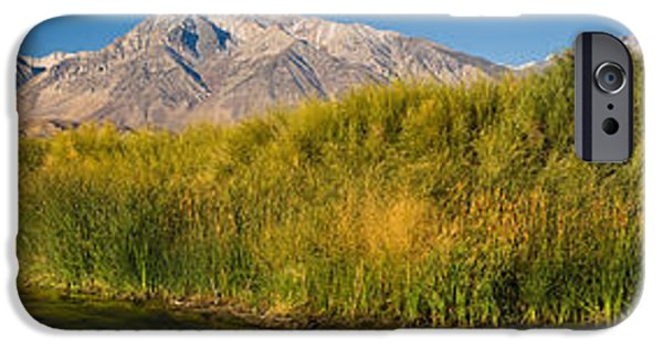 Mountain iPhone Cases - Owens River Flowing In Front iPhone Case by Panoramic Images