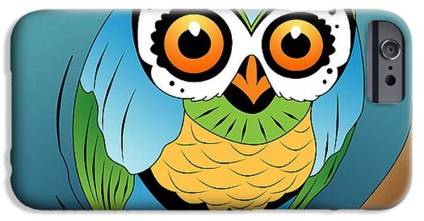 Animation iPhone Cases - Owl 2 iPhone Case by Mark Ashkenazi