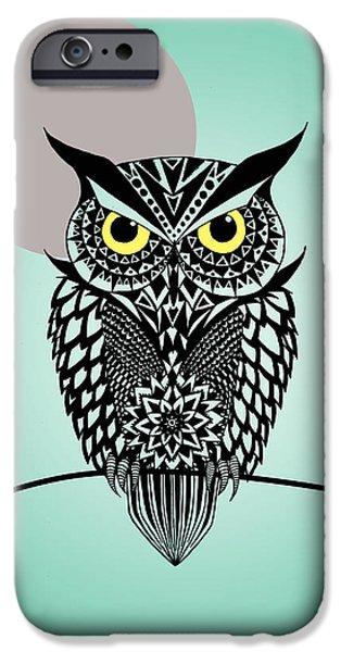 Surrealism Digital Art iPhone Cases - Owl 5 iPhone Case by Mark Ashkenazi