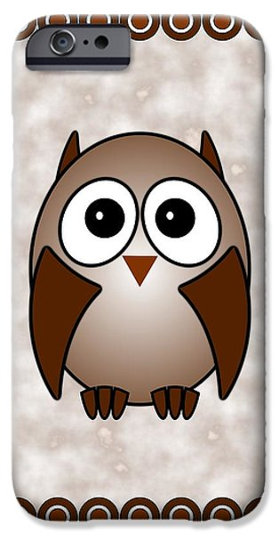 Little iPhone Cases - Owl - Birds - Art for Kids iPhone Case by Anastasiya Malakhova