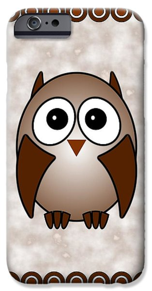 Baby Bird Mixed Media iPhone Cases - Owl - Birds - Art for Kids iPhone Case by Anastasiya Malakhova