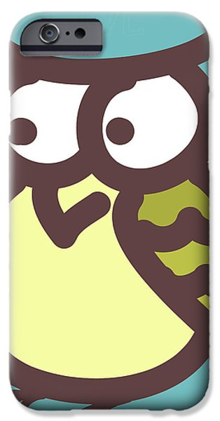 owl iPhone Case by Nursery Art