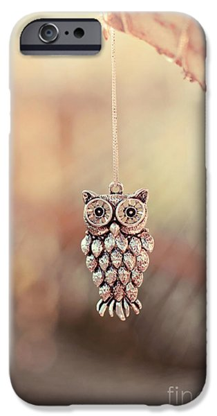 Stainless Steel iPhone Cases - Owl Spirit iPhone Case by Trish Mistric