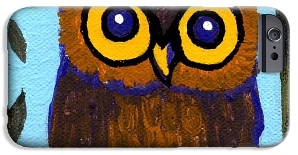 Genevieve Esson iPhone Cases - Owlette iPhone Case by Genevieve Esson