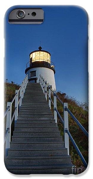 Owls Head Lighthouse iPhone Case by John Greim