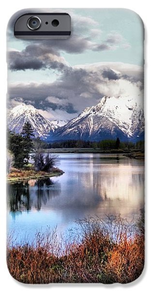 Oxbow Bend iPhone Case by Dan Sproul