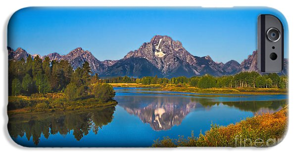 Haybale iPhone Cases - Oxbow Bend II iPhone Case by Robert Bales