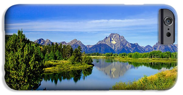Haybale iPhone Cases - Oxbow Bend iPhone Case by Robert Bales