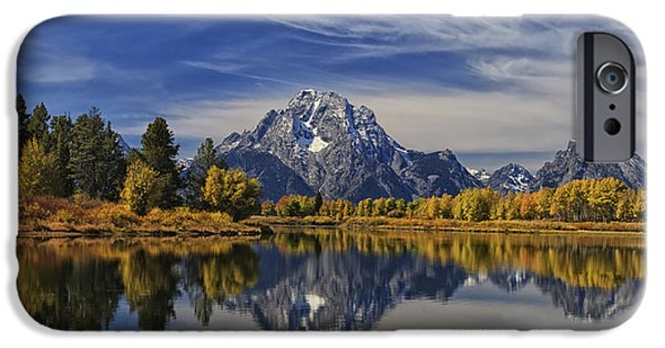 Moran iPhone Cases - Oxbow Reflections iPhone Case by Mark Kiver