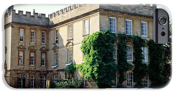 Historical Buildings iPhone Cases - Oxford University, New College iPhone Case by Panoramic Images