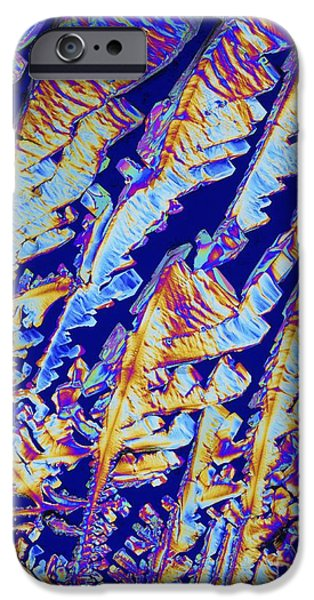 Biochemical iPhone Cases - Oxytocin Hormone Crystals, Lm iPhone Case by Alfred Pasieka