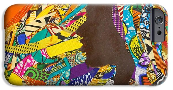 Black Tapestries - Textiles iPhone Cases - Oya I iPhone Case by Apanaki Temitayo M