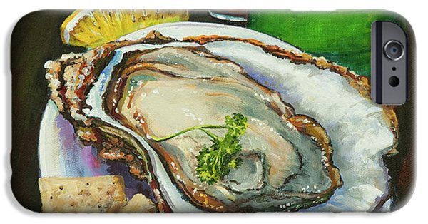 Crystal iPhone Cases - Oyster and Crystal iPhone Case by Dianne Parks