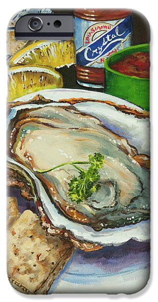 Oyster and Crystal iPhone Case by Dianne Parks