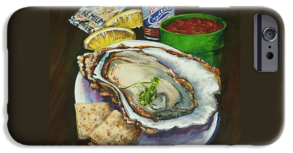 Raw iPhone Cases - Oyster and Crystal iPhone Case by Dianne Parks