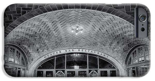 Building iPhone Cases - Oyster Bar BW iPhone Case by Susan Candelario