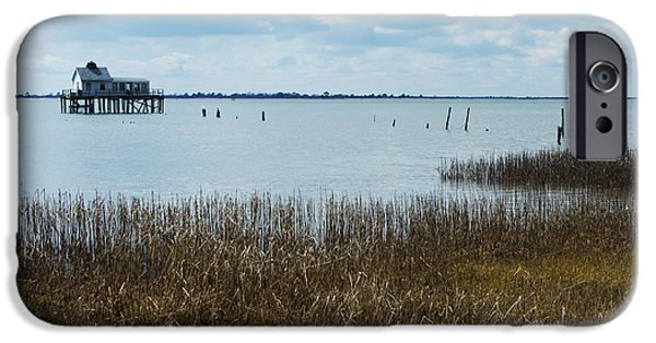 House Md Art iPhone Cases - Oyster Shack and Tall Grass iPhone Case by Photographic Arts And Design Studio