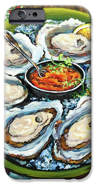 Oysters on the Half Shell iPhone Case by Dianne Parks
