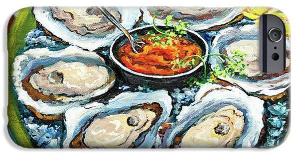 And iPhone Cases - Oysters on the Half Shell iPhone Case by Dianne Parks