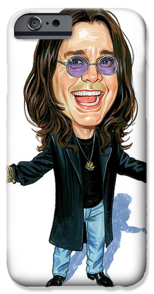 Art iPhone Cases - Ozzy Osbourne iPhone Case by Art
