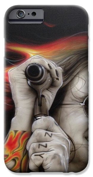'Ozzy's Fire' iPhone Case by Christian Chapman Art