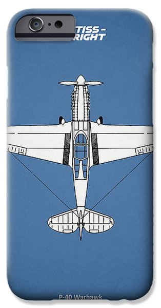 Planes Photographs iPhone Cases - P-40 Warhawk iPhone Case by Mark Rogan