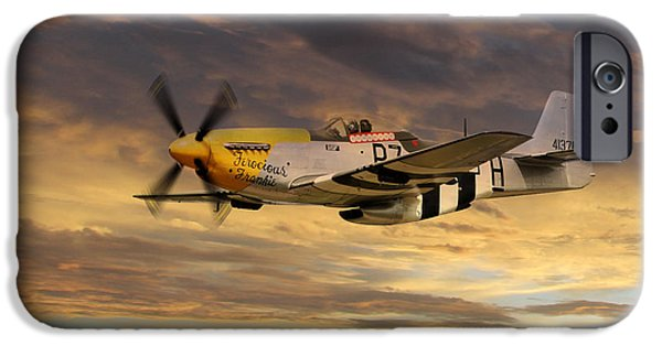 Ferocious Frankie iPhone Cases - P-51 Ferocious Frankie iPhone Case by J Biggadike
