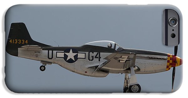 Ww Ii iPhone Cases - P-51 Landing Configuration iPhone Case by John Daly