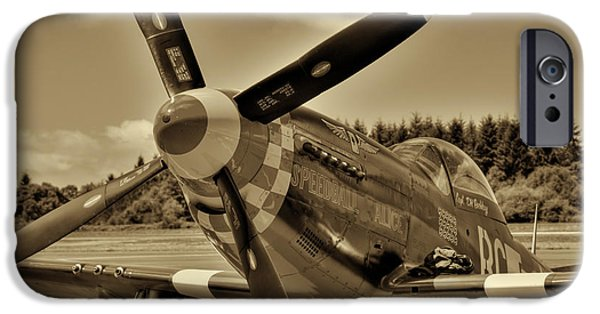 North American Aviation iPhone Cases - P-51 Mustang II iPhone Case by David Patterson
