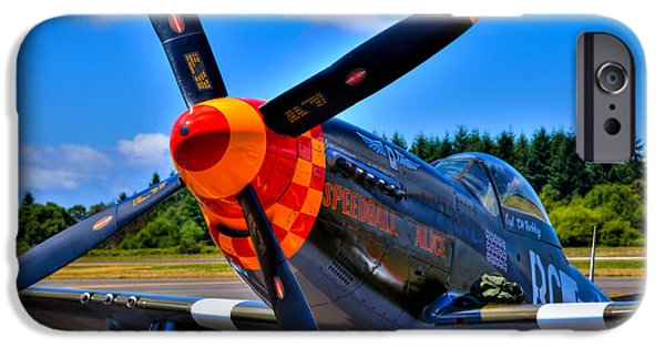 North American Aviation iPhone Cases - P-51 Mustang - Speedball Alice iPhone Case by David Patterson