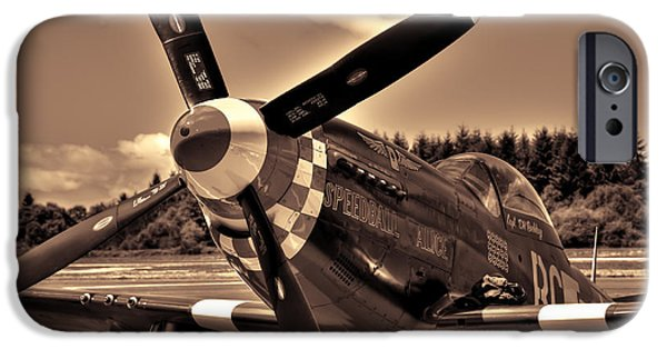 North American Aviation iPhone Cases - P-51 Speedball Alice iPhone Case by David Patterson
