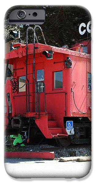 P Town Cafe Caboose Pacifica California 5D22659 iPhone Case by Wingsdomain Art and Photography