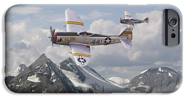 Campaign iPhone Cases - P47 Thunderbolt - 57th FG iPhone Case by Pat Speirs