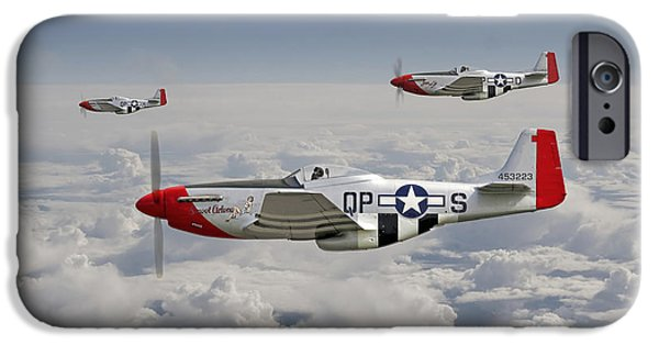 Classic Aircraft iPhone Cases - P51 - 334th Fighting Eagles iPhone Case by Pat Speirs
