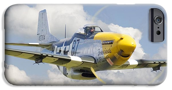 Classic Aircraft iPhone Cases - P51 Ferocious Frankie iPhone Case by Pat Speirs