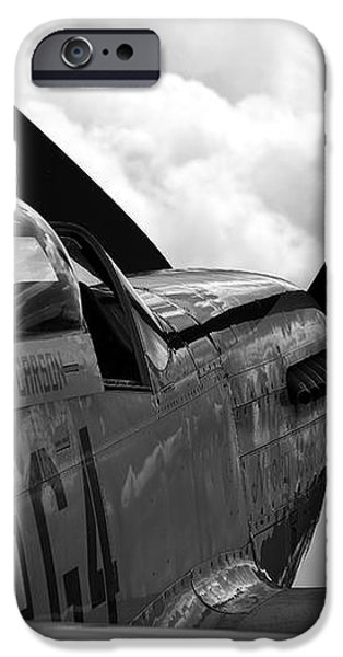 P51 in clouds iPhone Case by Remy NININ