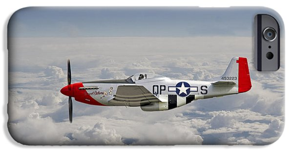 4th Digital Art iPhone Cases - P51 Mustang Gallery - No4 iPhone Case by Pat Speirs