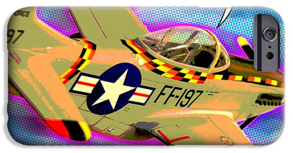 Warhol Art iPhone Cases - P51 Mustang iPhone Case by Gary Grayson