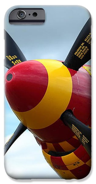 P51 Propeller iPhone Case by Remy NININ