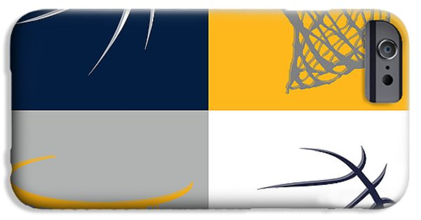 Pacers iPhone Cases - Pacers Ball And Hoop iPhone Case by Joe Hamilton