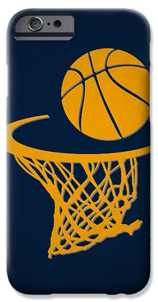 Pacers iPhone Cases - Pacers Team Hoop2 iPhone Case by Joe Hamilton
