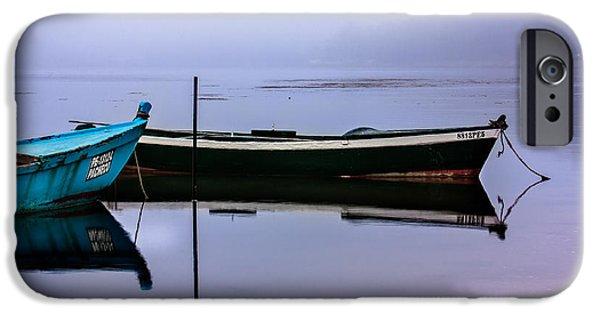 Edgar Laureano Photographs iPhone Cases - Pacheco blue boat iPhone Case by Edgar Laureano