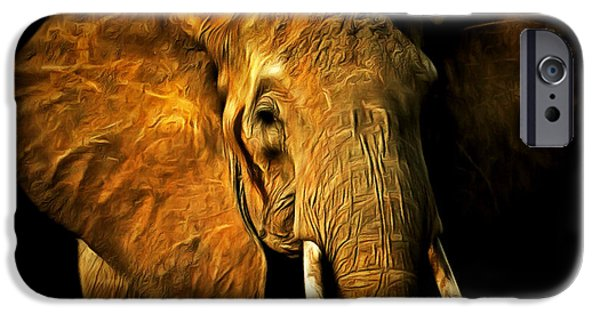 Elephant iPhone Cases - Pachyderm 20150210brun iPhone Case by Wingsdomain Art and Photography