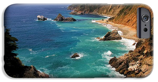 Beach Landscape iPhone Cases - Pacific Coast Blues iPhone Case by Donna Kennedy
