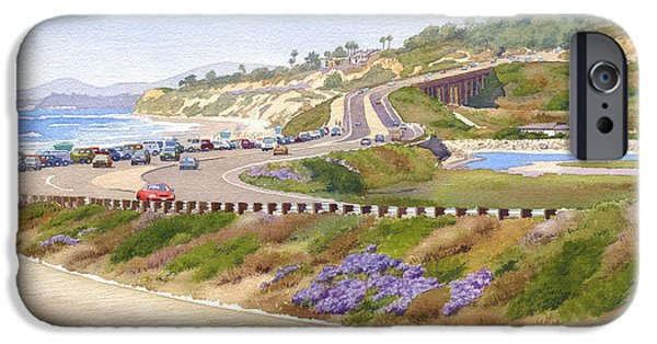 Pines iPhone Cases - Pacific Coast Hwy Del Mar iPhone Case by Mary Helmreich