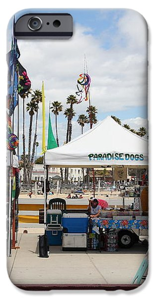 Pacific Coast Kites and Paradise Dogs On The Municipal Wharf At The Santa Cruz Beach Boardwalk Calif iPhone Case by Wingsdomain Art and Photography