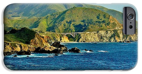 Bixby Bridge iPhone Cases - Pacific Coast Panorama iPhone Case by Benjamin Yeager