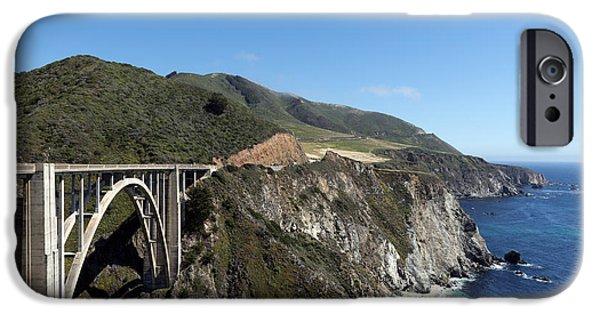 Bixby Bridge iPhone Cases - Pacific Coast Scenic Highway Bixby Bridge iPhone Case by Carol M Highsmith