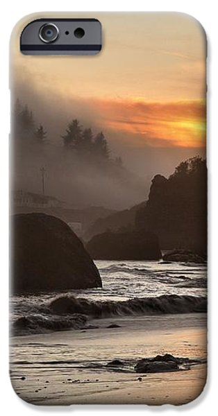 Pacific Fog And Fire iPhone Case by Adam Jewell