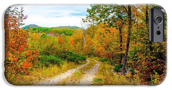 Rural Maine Roads iPhone Cases - Maine Autumn iPhone Case by Kevin Eckert Smith